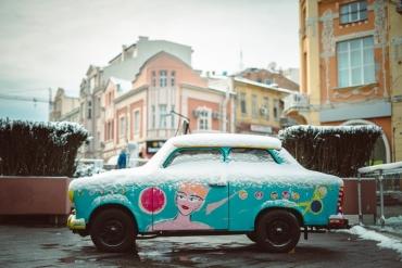 Снежното съботно настроение в Пловдив